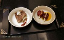 Qin style beef ribs and steamed salsify with glutinous rice and jujube, Qin Restaurant of Real Love, Xian, China