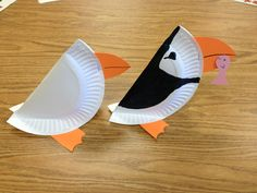 Puffin preschool craft -- compare puffins to penguins