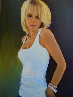 PrisecariuGeaninaArt: Gina (my twin sister) 100x70           ...