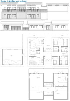 House Plan Modern House Plan to Modern Family. My House Plans, Modern House Plans, Cabin Plans, House Floor Plans, Roof Lines, Metal Homes, Exterior House Colors, Prefab Homes, House Layouts