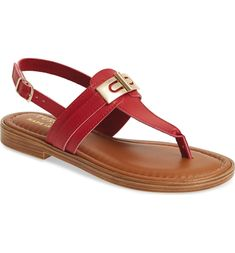 by Easy Street® Clariss Sandal, Main, color, Red Faux Leather Slingback Sandal, Red Shoes, Tuscany, Nordstrom, Sandals, Street, Color Red, Easy, Leather