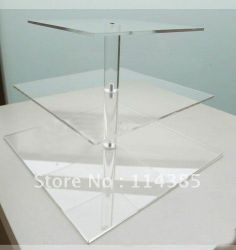 3 Tier 5mm Thick Square Maypole Clear Acrylic Wedding Party Fairy Cupcake Display Stand-in Stands from Home & Garden on Aliexpress.com