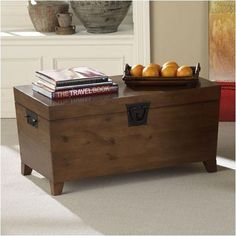 Danville Cocktail Rustic Trunk Coffee Table Storage Space Medium Oak Wood | eBay  http://stores.shop.ebay.com/jodezegiftsnmore