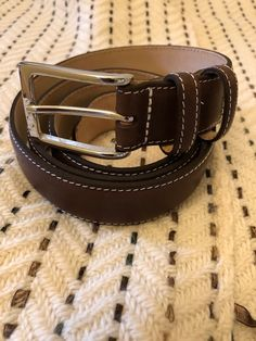 Meticulously made in Naseby, England by skilled leather artisans using premium quality materials and traditional techniques. Blue Brown, Green And Grey, Brown Leather Belt, Fabric Patterns, Belts, Chevron, England, Traditional, Purple