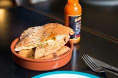 Arepa with mozzarella and jalapeños (Mesa Verde, Mebourne VIC)