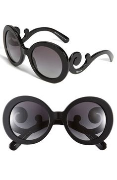 Prada 'Baroque' Round Sunglasses  $290.00