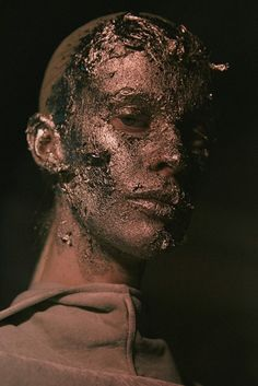 CHARLIE HERE - I like the idea of covering/aging the skin in a way that makes us feel less human.