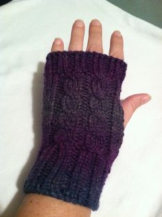 Ravelry: Machine Knit USM Cable Mitts pattern by Jo Anne Neary