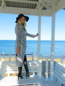 BNWT-Ruby-Sees-All-Monochrome-Snow-Leopard-Trench-Coat-Jacket-6-8-10-12-RRP-159