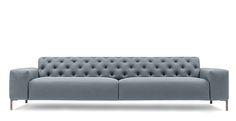 PIANCA Boston Sofa in dove blue.