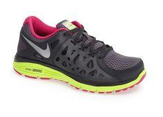 Black and Neon 'Dual Fusion 2.0' Nike Running Shoe