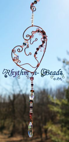 ~Wired Whinnies Sunjewels ~ by Rhythm-n-Beads © are whimsical  copper wire horse Suncatchers....lovingly hand fashioned from copper wire and accented with beads & charms. Hang your 'wired whinnies' ... * in a window *from a rear view mirror * from a lamp * in the tack room * on the Christmas tree or a wreath during the holidays, or......the possibilities are endless :) Wire Horse Suncatchers, Rearview Mirror Dangles, Horse Ornaments www.facebook.com/rhythmbeads