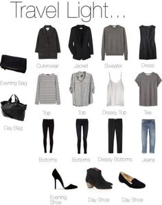 Capsule Travel outfits