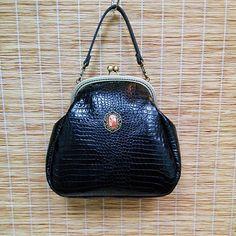 18.5 cm frame leather purse / bridesmaid gift / bridesmaid clutch / cross body clutch