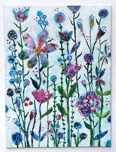 Real flowers fade, but mixed-media flowers last forever!
