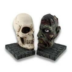 Zombie Skull Bookends