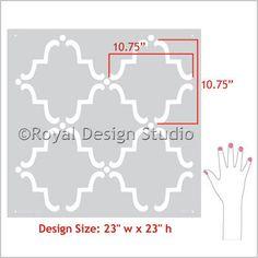 Wall Stencil | Large Moorish Trellis Stencil | Royal Design Studio: for wall and armoire