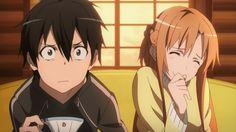 funny-Kirito and Asuna