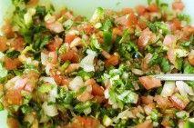 pico de gallo and guacamole