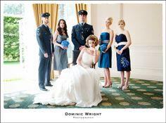 The Wedding Affair RAF Military Photo Shoot at The Hawkhills images courtesy of Dominic Wright Photography www.theweddingaffair.co.uk