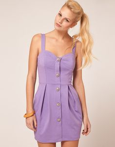 ASOS Tulip Dress With Button Front