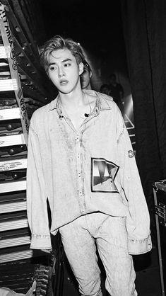 Suho Exo black and white Kpop Exo, Exo Ot9, Chanyeol Baekhyun, K Pop, Got7, Kim Joon Myeon, Xiuchen, Kim Jongdae, Exo Members