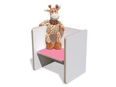Stühle - Kinder Wendehocker – weiß mit rosa Sitzfläche - ein Designerstück von…