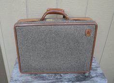 1960s / 70's tweed briefcase.