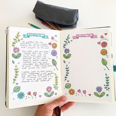 Printable floral journaling template for a personal journaling practice in the bullet journal. Click through to download free printable journal template! #bulletjournaling #bulletjournal #bulletjournalcollection #bulletjournalideas #howtobulletjournal #howtostartjournaling #benefitsofjournaling #bujo #notebook #bulletjournallayout #bulletjournalprintable