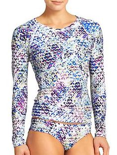 Kaleidoscope Rashguard - The performance-fitted UPF 50+ rashguard with sporty raglan sleeves and an ingenious loop at the hem that ties your board shorts securely in place.