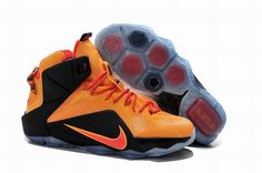 "690ba94c07a Cheap Nike LeBron 12 ""Witness"" Laser Orange Green Glow-Black For Sale"