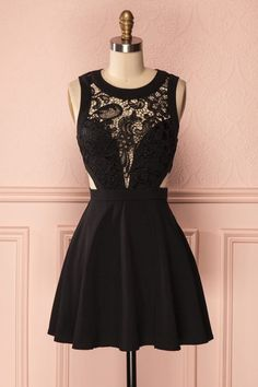 little black dresses, sexy lace homecoming dresses, see throguh homecoming dresses, short prom dresses, party dresses, formal dresses, graduation dresses#SIMIBridal #homecomingdresses