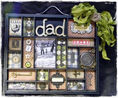 Printer's tray shadow box
