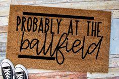 Custom welcome mat funny doormat sarcastic sayings mat at the ballfield Funny Doormats, Best Shakes, Coir Doormat, Personalized Door Mats, Home Printers, Welcome Mats, Customized Gifts, Wood Signs