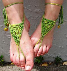 Bare foot sandals | barefoot sandals green | Curiouser & Curiouser