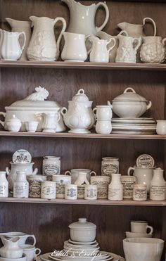 Ironstone and marmalade jars