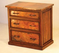 3-Drawer Small Dresser w/ Copper - SOLutions Mexico, The Most Trusted Furniture Dealer in Mexico