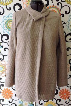 Pure Jill J. Jill Women Brown Quilted Lightweight Cape Sweater Size M #JJill #Cardigan