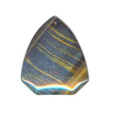 Blue tigers eye with lovely gold streaks