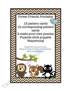 Forest Friends Printable product from Preschool-Printable on TeachersNotebook.com
