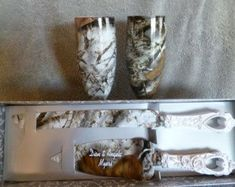Camouflage Personalized wedding serving set for by RuttinCamo