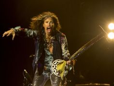 Aerosmith singer Steven Tyler performs during the city day celebration at the Lubyanka Square in Moscow on Sept. 5, 2015. Moscow is celebrating its 868th birthday.  Pavel Golovkin, AP