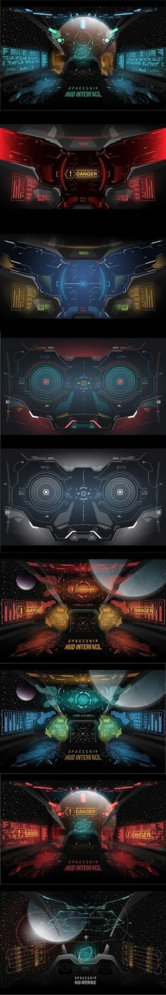 Set of Futuristic UI illustration. Infographic Elements