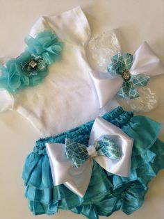 Newborn baby girl take me home outfit tiffany by BeBeBlingBoutique, $40.00