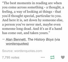 This is why reading is such a comfort