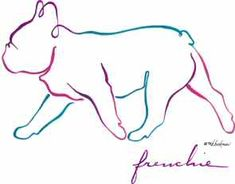 Animals For > French Bulldog Outline