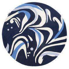 Marble Rug Dark Blue