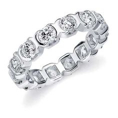 Check Out This Beautiful Bezel Set Diamond Eternity Ring. We Offer This Ring in Many Metal Types.
