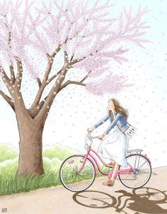 Romantic Art, Girls Cartoon Art, Girly Art, Illustration Art Girl, Animation Art, Dreamy Art, Cute Art, Cute Drawings, Cartoon Art