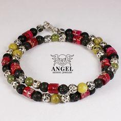 RASTA - koraliki Biżuteria Dla mężczyzn Anioł